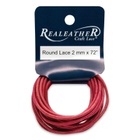 Round Leather Lace, Red