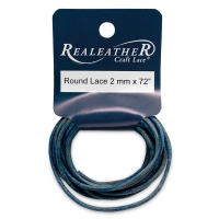 Round Leather Lace, Blue