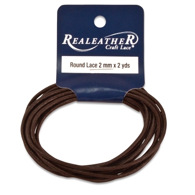 Round Leather Lace, Brown