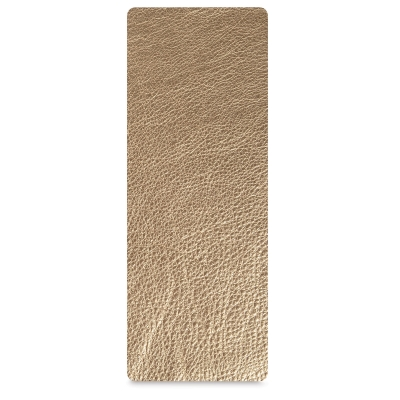 Leather Strip, Metallic Gold