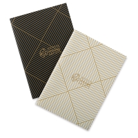 Artists Serving Artists Notebook, Pkg of 2Black/White/Gold Accents, Blank, Thread-Bound