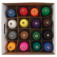 Bright Intermediate Rug Yarn, 16 Cones