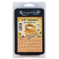 "3/8"" Alphabet and Number Set, 36 Stamps"