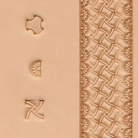 Geometric Stamp Set, 3 Stamps (Stamped Example