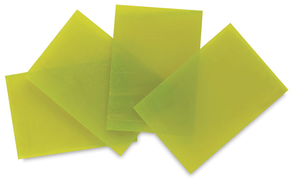 Yellow Opalescent Glass, Pkg of 4