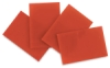 Orange Opalescent Glass, Pkg of 4