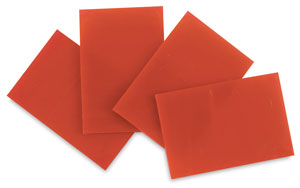 Orange Opalescent Glass, Pkg of 4