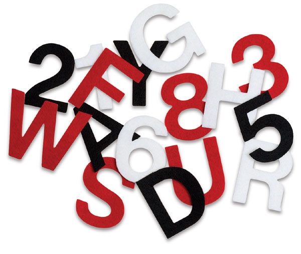 Felt Letters and Numbers