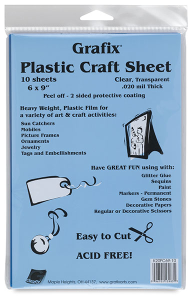 Grafix Craft Plastic, Pkg of 10