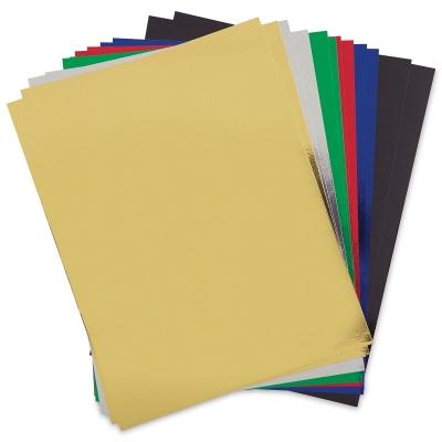 Metallic Foil Board, Pkg of 12 Sheets