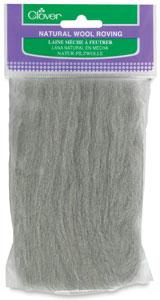 Natural Wool Roving, Ash