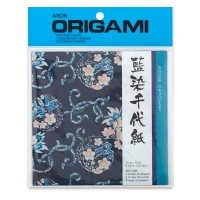 Aizome Chiyogami Washi Origami Paper