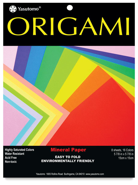 Mineral Origami Paper, Assorted Colors