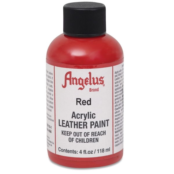 Acrylic Leather Paint, Red, 4 oz