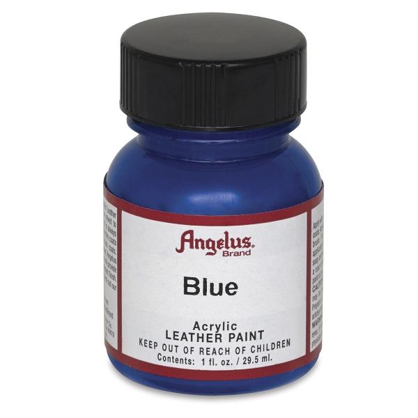 Acrylic Leather Paint, Blue, 1 oz