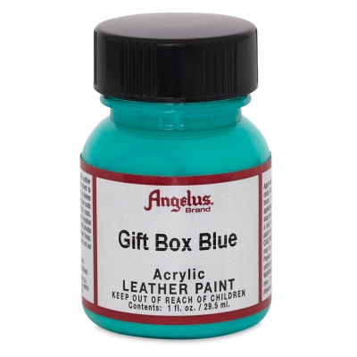 Acrylic Leather Paint, Gift Box Blue, 1 oz