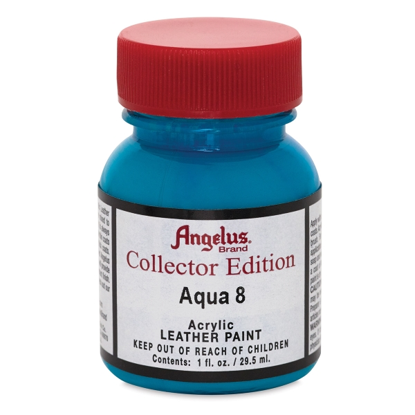 Acrylic Leather Paint, Aqua, 1 oz
