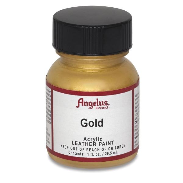 Acrylic Leather Paint, Gold, 1 oz