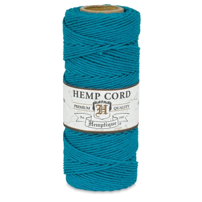 Hemp Cord Spool, Turquoise