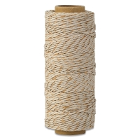 Hemp Cord Spool, Natural with Metallic Copper