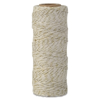 Hemp Cord Spool, Natural with Metallic Gold