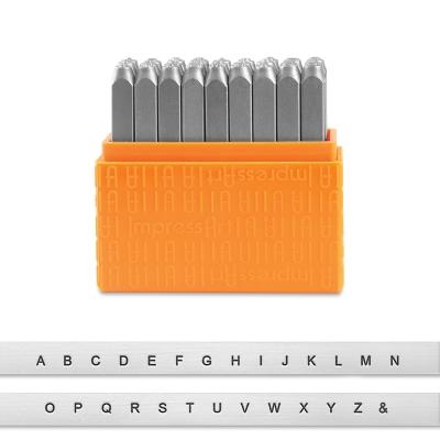 Sans Serif Letter Stamps, Set of 27