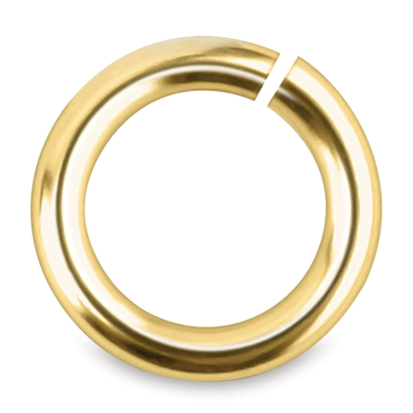 Jump Rings, Gold, Pkg of 100