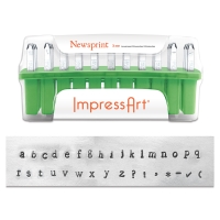 Newsprint Letter Stamps, Set of 33