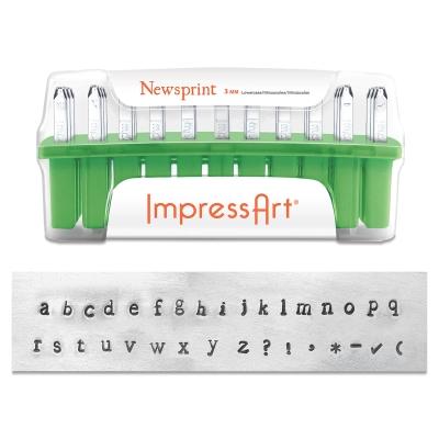 Newsprint Letter Stamps, Set of 33