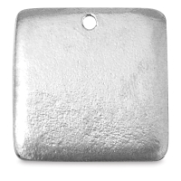 Square Blank, Pewter, 3/4""