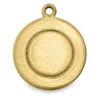 "Circle Tag w/ Border, Brass, 1/2"""