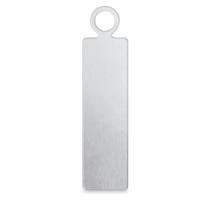 "Rectangle Tag, Aluminum, 5/8"" x 3/16"""