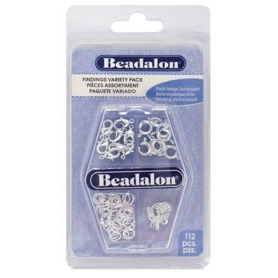 Jewelry Findings, Silver, Pkg of 112