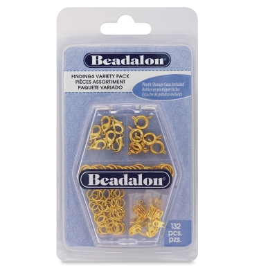 Jewelry Findings, Gold, Pkg of 132