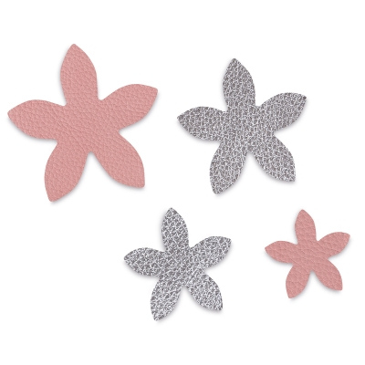 Star, Jasmine, Set of 4<br/>(Example of cut leather)