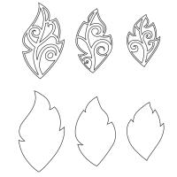 Leaf Charms, Set of 6(Illustration die outline)