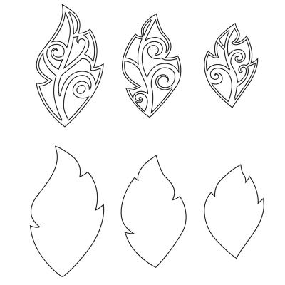 Leaf Charms, Set of 6<br/>(Illustration die outline)