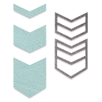 Chevron, Set of 5(Example of cut leather)