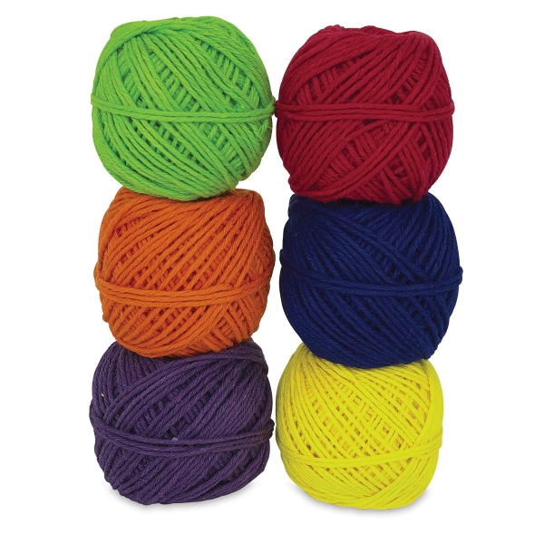 Hemp Yarn Bon Bons, Pkg of 6