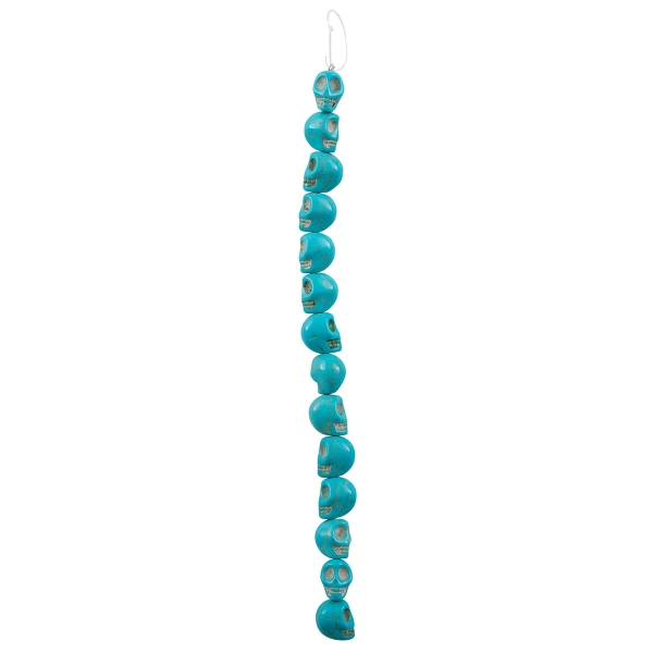 Semi-Precious Skull Beads, 13 mm<br/>Turquoise