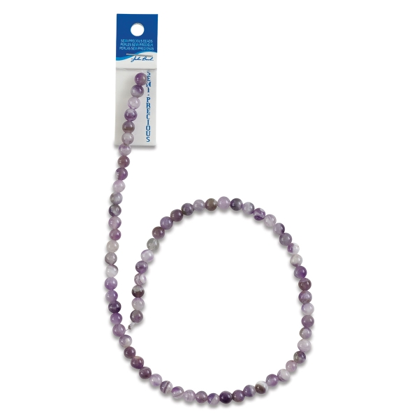 Dogtooth Amethyst, Round 6 mm
