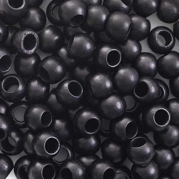 Round Large Hole, Black, 8 mm × 6.5 mm