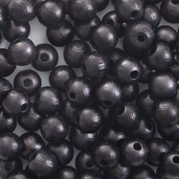 Round, Black, 8 mm