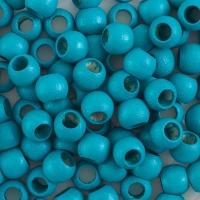 Round Large Hole, Turquoise, 8 mm × 6.5 mm