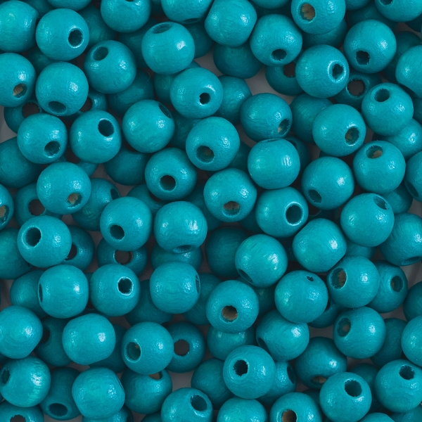 Round, Turquoise, 6 mm
