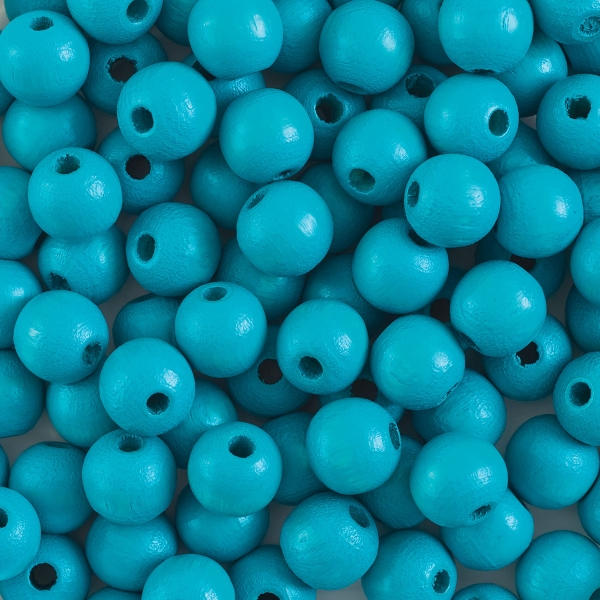 Round, Turquoise, 8 mm
