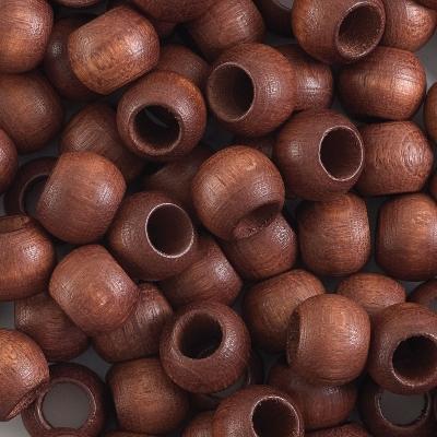 Round Large Hole, Dark Brown, 8 mm × 6.5 mm