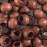 Round Large Hole, Dark Brown, 12 mm × 9.8 mm