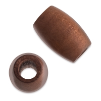 Oval Large Hole, Dark Brown, 22 mm × 33 mm