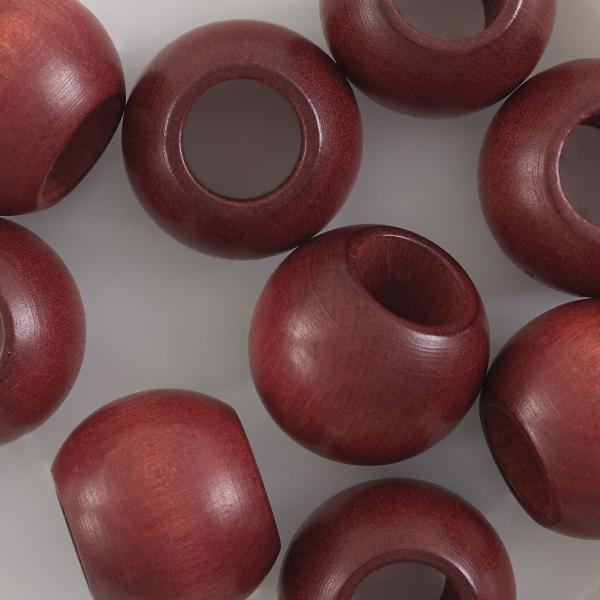 Round Large Hole, Mahogany, 20 mm × 16 mm